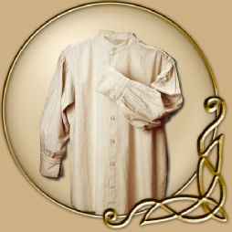 Costume -Long Sleeved Beige Shirt
